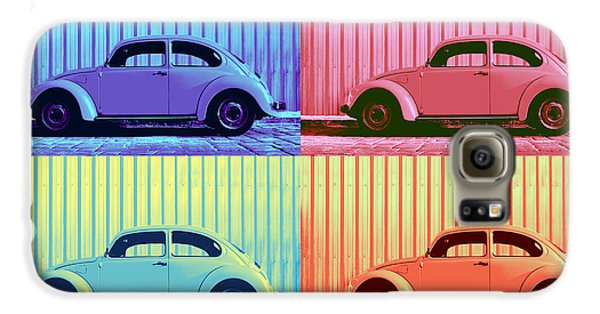 Vw Beetle Pop Art Quad Galaxy S6 Case by Laura Fasulo