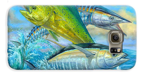 Wahoo Mahi Mahi And Tuna Galaxy S6 Case by Terry  Fox