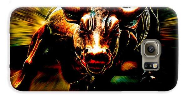 Wall Street Bull Market Galaxy S6 Case by Marvin Blaine