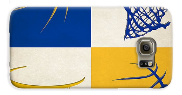 Warriors Ball And Hoop Galaxy S6 Case by Joe Hamilton