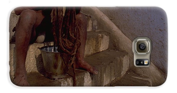 Galaxy S6 Case featuring the photograph Varanasi Hair Wash by Travel Pics