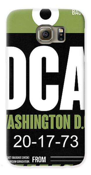 Washington D.c. Airport Poster 2 Galaxy S6 Case by Naxart Studio
