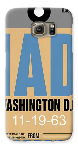 Washington D.c. Airport Poster 3 Galaxy S6 Case by Naxart Studio