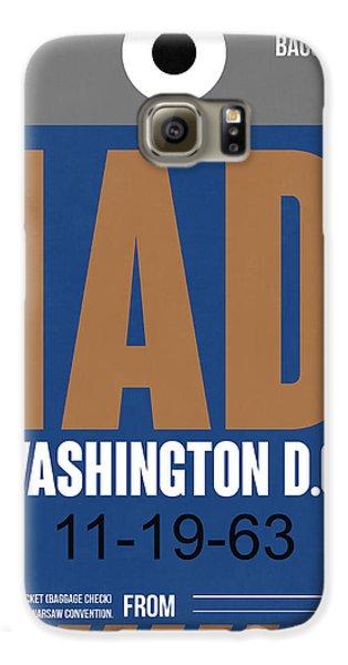 Washington D.c. Airport Poster 4 Galaxy S6 Case by Naxart Studio