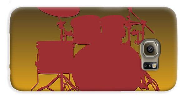 Washington Redskins Drum Set Galaxy S6 Case by Joe Hamilton
