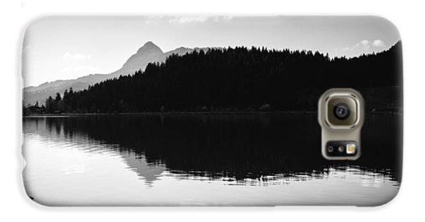 Water Reflection Black And White Galaxy Case by Matthias Hauser
