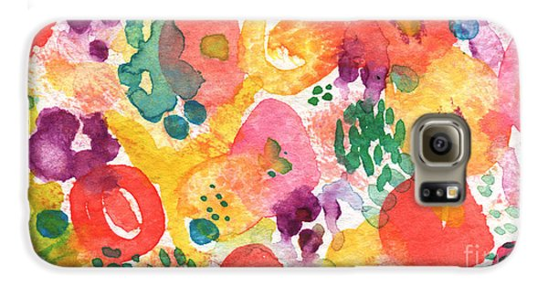 Watercolor Garden Galaxy S6 Case by Linda Woods