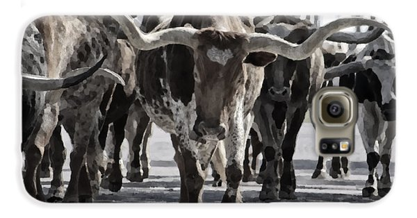 Watercolor Longhorns Galaxy S6 Case by Joan Carroll