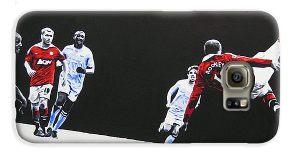 Wayne Rooney - Manchester United Fc Galaxy S6 Case by Geo Thomson