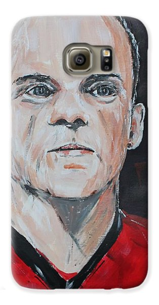 Wayne Rooney Galaxy S6 Case by John Halliday