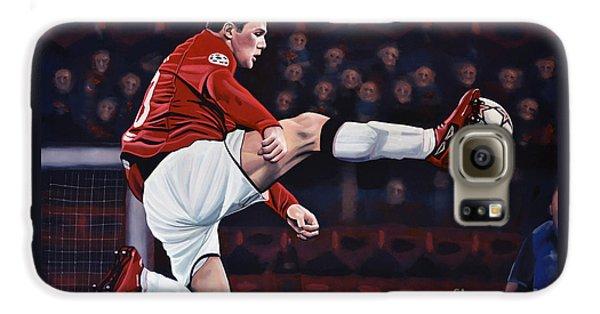 Wayne Rooney Galaxy S6 Case by Paul Meijering