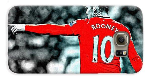 Wayne Rooney Poster Art Galaxy S6 Case by Florian Rodarte