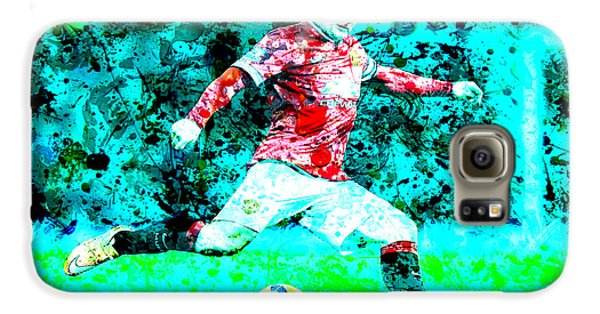 Wayne Rooney Splats Galaxy S6 Case by Brian Reaves