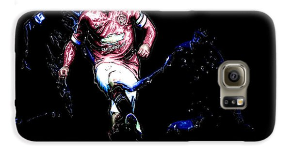 Wayne Rooney Working Magic Galaxy S6 Case by Brian Reaves