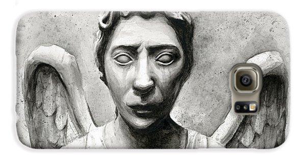 Weeping Angel Don't Blink Doctor Who Fan Art Galaxy S6 Case by Olga Shvartsur