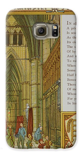 Westminster Abbey Galaxy S6 Case by British Library