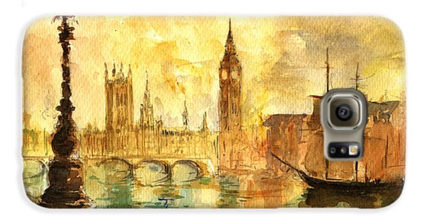 Westminster Palace London Thames Galaxy S6 Case by Juan  Bosco