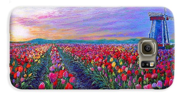Tulip Fields, What Dreams May Come Galaxy S6 Case by Jane Small