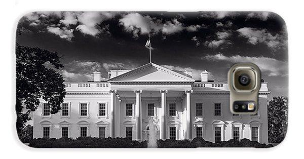 White House Sunrise B W Galaxy S6 Case by Steve Gadomski