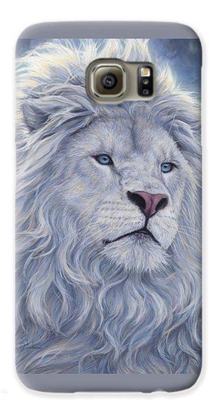 White Lion Galaxy S6 Case by Lucie Bilodeau