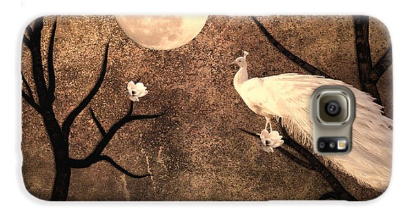 White Peacock Galaxy S6 Case by Sharon Lisa Clarke