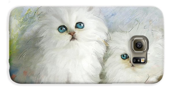 White Persian Kittens  Galaxy S6 Case by Catf