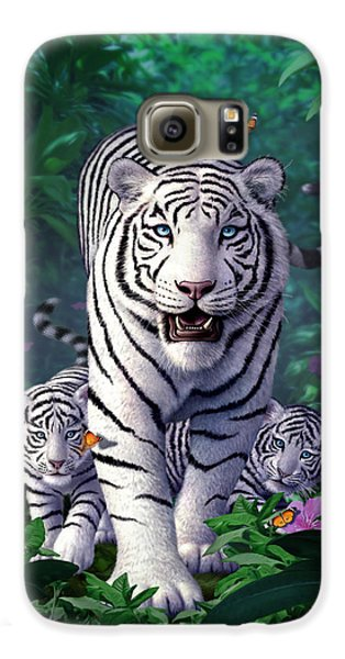 White Tigers Galaxy S6 Case by Jerry LoFaro