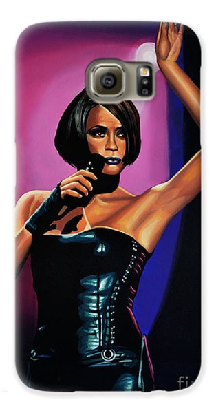 Whitney Houston On Stage Galaxy S6 Case by Paul Meijering