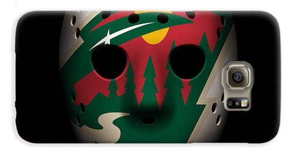 Wild Goalie Mask Galaxy S6 Case by Joe Hamilton
