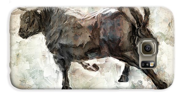 Wild Raging Bull Galaxy S6 Case by Daniel Hagerman