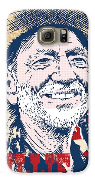 Willie Nelson Pop Art Galaxy S6 Case by Jim Zahniser