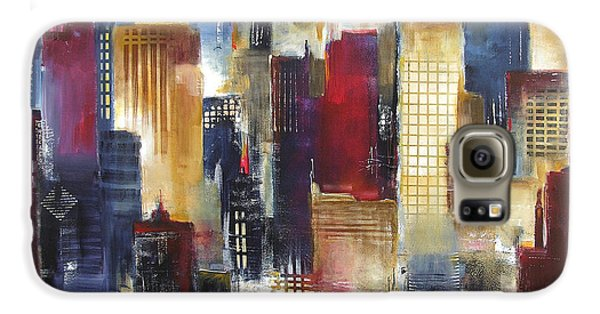 Windy City Nights Galaxy S6 Case by Kathleen Patrick