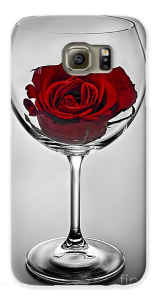 Wine Glass With Rose Galaxy S6 Case by Elena Elisseeva