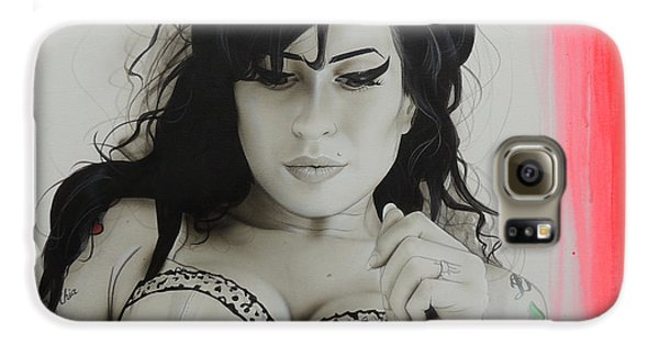 Amy Winehouse - 'winehouse' Galaxy S6 Case by Christian Chapman Art