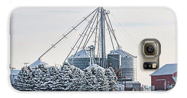 Winter Farm  7365 Galaxy S6 Case by Jack Schultz
