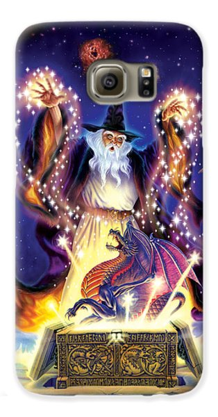 Wizard Dragon Spell Galaxy S6 Case by Andrew Farley