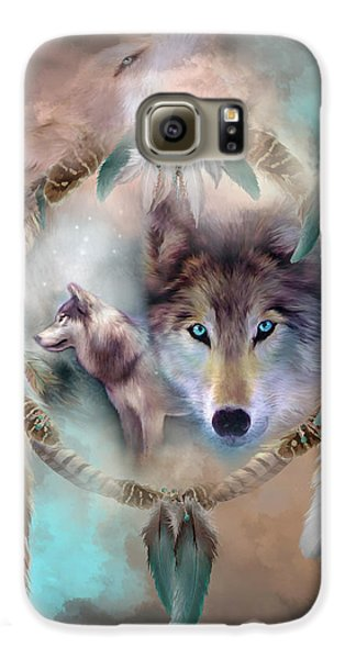Wolf - Dreams Of Peace Galaxy S6 Case by Carol Cavalaris