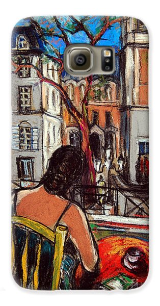 Woman At Window Galaxy S6 Case by Mona Edulesco