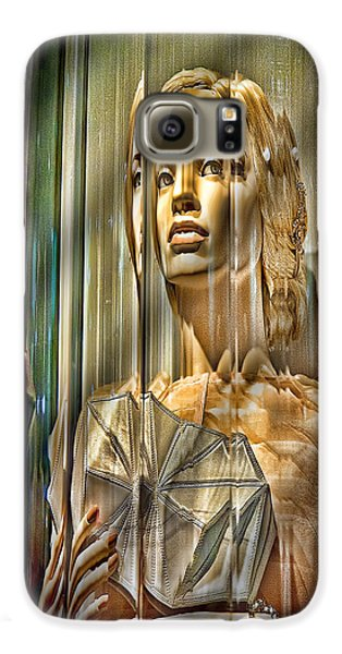 Woman In Glass Galaxy Case by Chuck Staley