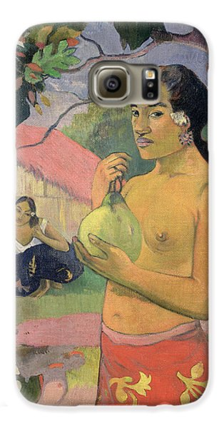 Woman With Mango Galaxy S6 Case by Paul Gauguin
