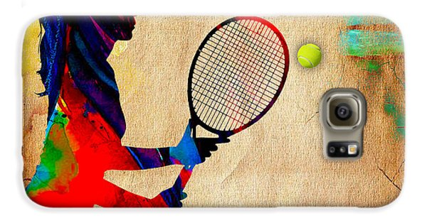 Womens Tennis Galaxy S6 Case by Marvin Blaine