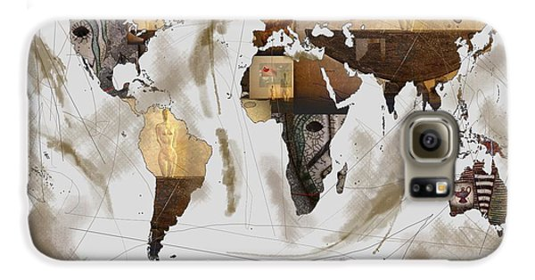 World Map Artefact Samsung Galaxy Case by Andre Pillay