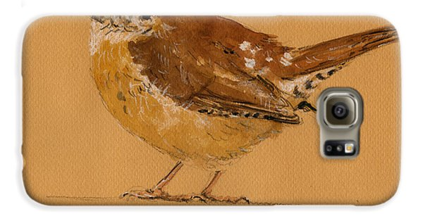 Wren Bird Galaxy S6 Case by Juan  Bosco