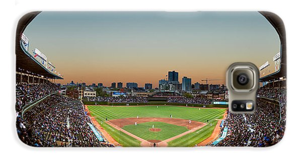 Wrigley Field Night Game Chicago Galaxy S6 Case by Steve Gadomski