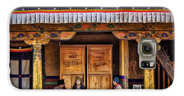 Yak Butter Tea Break At The Potala Palace Galaxy S6 Case by Joan Carroll