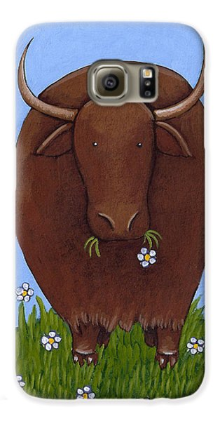 Whimsical Yak Painting Galaxy S6 Case by Christy Beckwith