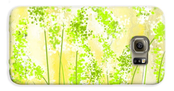 Yellow And Green Art Galaxy S6 Case by Lourry Legarde