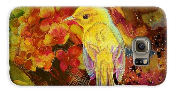 Yellow Bird Galaxy S6 Case by Catf