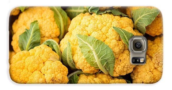 Yellow Cauliflower Galaxy S6 Case by Rebecca Cozart