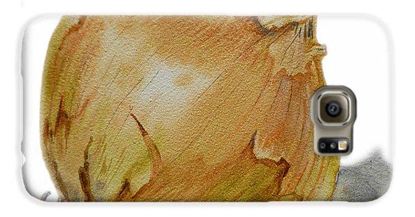 Yellow Onion Galaxy S6 Case by Irina Sztukowski